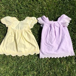 Lot of 2 summer dresses - eyelet- 3T